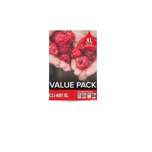 Canon CLI-681XL 4 Pack Value Pack (Genuine) title=