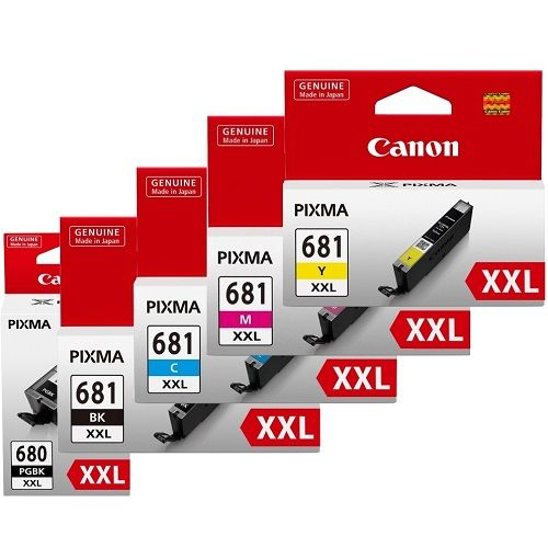 Canon PGI-680XXLBK/CLI-681XXL 5 Pack Bundle (Genuine)