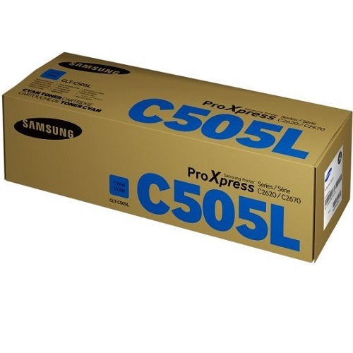 Samsung CLT-C505L Cyan Toner Cartridge Genuine