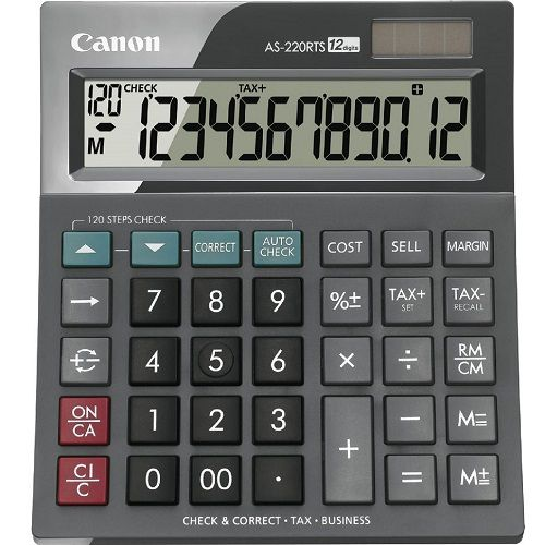 Canon AS-220RTS Calculator title=