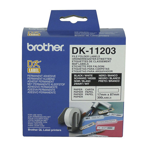 Brother DK-11203 Black on White (Genuine)
