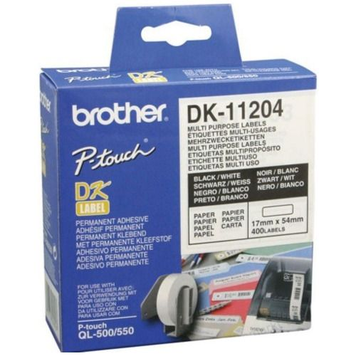 Brother DK-11204 Black on White (Genuine) title=