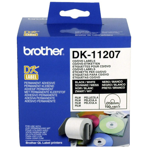 Brother DK-11207 Black on White (Genuine) title=