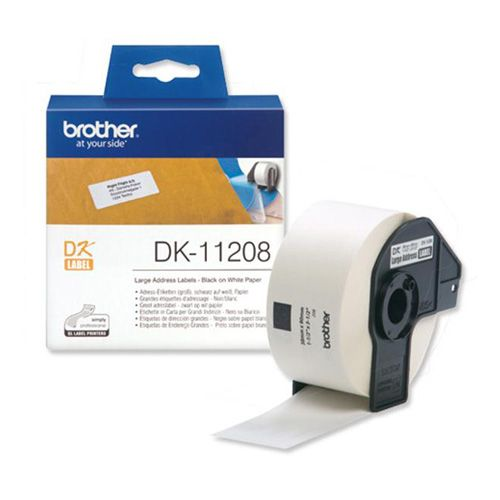 Brother DK-11208 Black on White (Genuine) title=