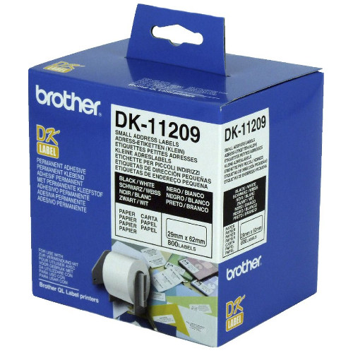 Brother DK-11209 Black on White (Genuine)