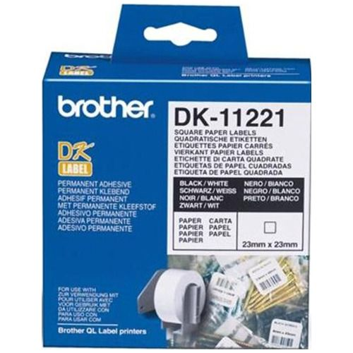 Brother DK-11221 Black on White Tape Genuine