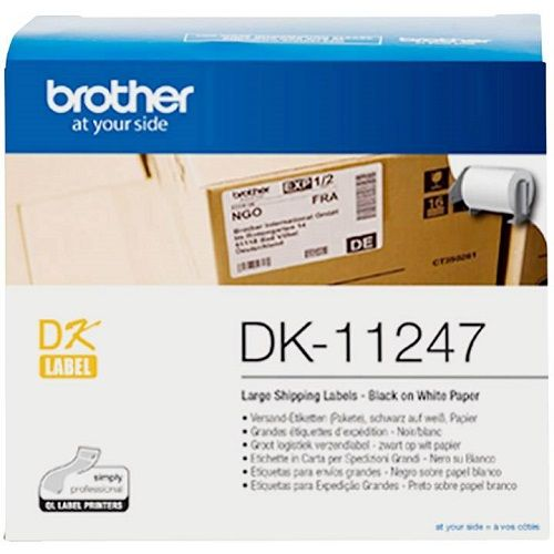 Brother DK-11247 Black on White (Genuine) title=