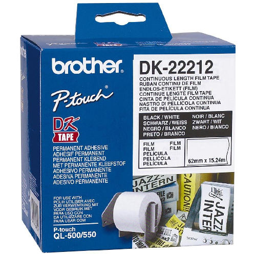 Brother DK-22212 Black on White (Genuine) title=