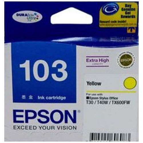 Epson 103 Yellow High Yield (T1034) (Genuine) title=