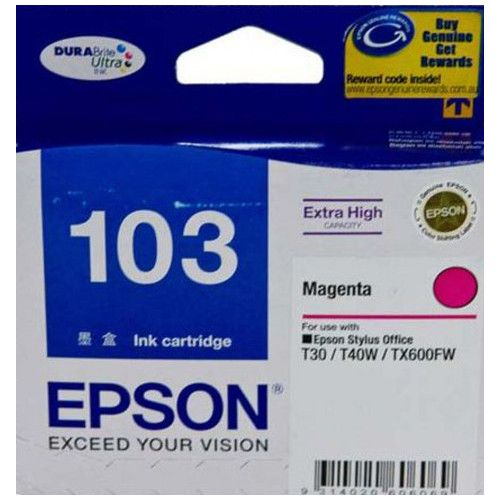 Epson 103 Magenta High Yield (T1033) (Genuine) title=