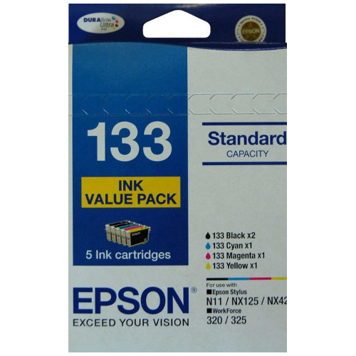 Epson 133 5 Pack Bundle (Genuine) title=