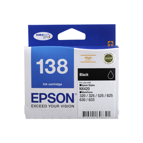 Epson 138 Black High Yield (C13T138192) (Genuine) title=