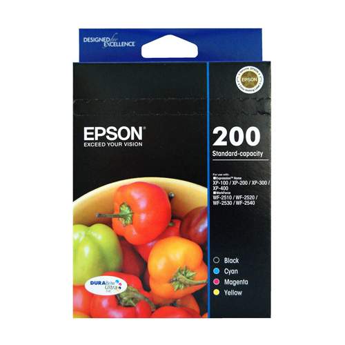 Epson 200 4 Pack Bundle (Genuine) title=