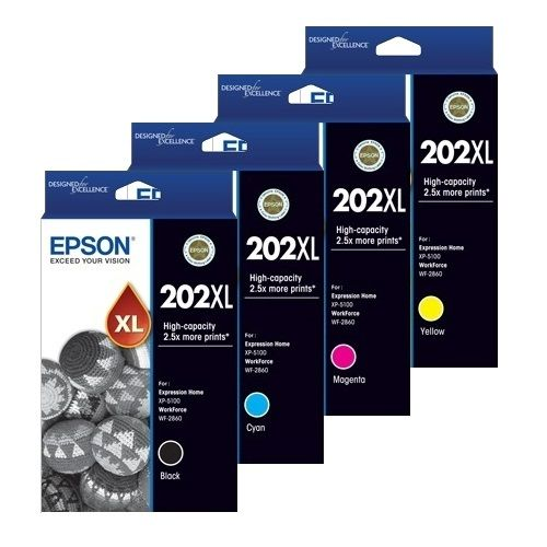 Epson 202XL 8 Pack Bundle (C13T02P192-492) (Genuine) title=