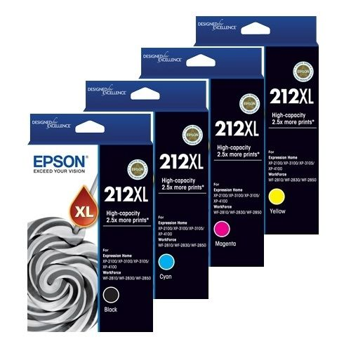 Epson 212XL 8 Pack Bundle (C13T02X192-492) (Genuine)