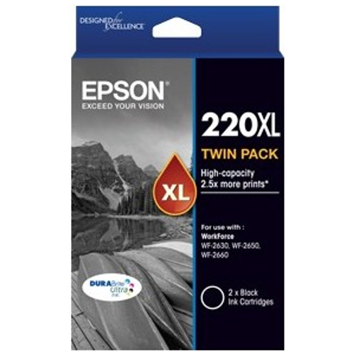 Epson 220XL 2 Pack Bundle (Genuine) title=