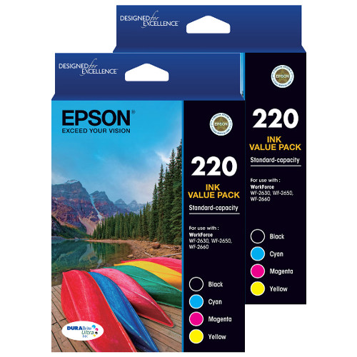 Epson 220 8 Pack Bundle (Genuine) title=