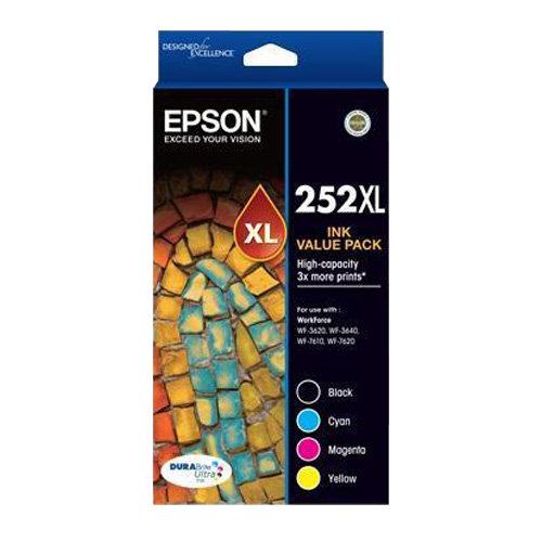 Epson 252XL 4 Pack Bundle (Genuine) title=