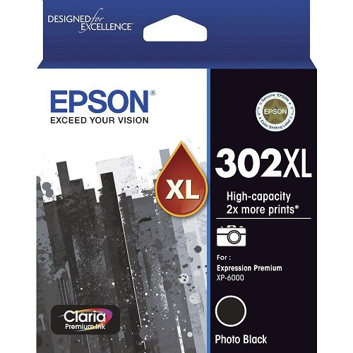 Epson 302XL Photo Black High Yield (Genuine) title=