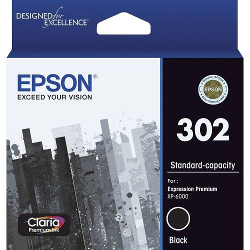 Epson 302 Black (Genuine) title=