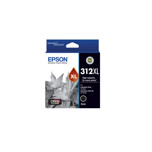 Epson 312XL Black High Yield Ink Cartridge (Genuine) title=