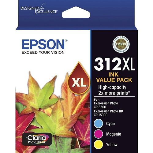 Epson 312XL 3 Pack Value Pack (Genuine) title=