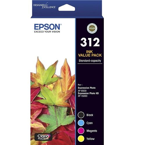 Epson 312 4 Pack Value Pack (Genuine) title=
