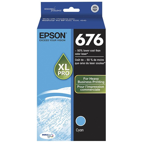Epson 676XL Cyan High Yield (C13T676292) (Genuine) title=