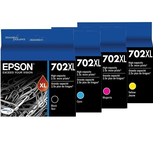Epson 702XL 4 Pack Bundle (Genuine)