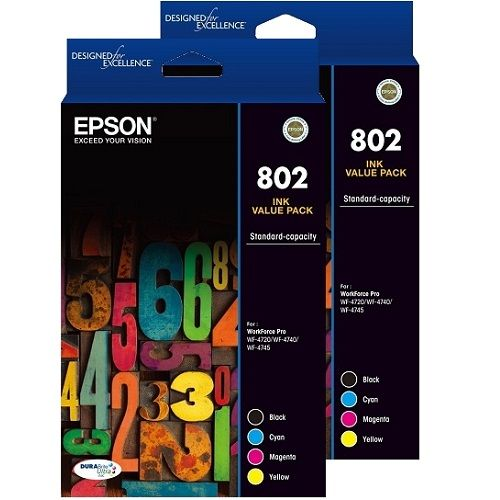 Epson 802 8 Pack Bundle (Genuine) title=