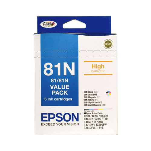 Epson 81N 6 Pack Bundle (Genuine) title=