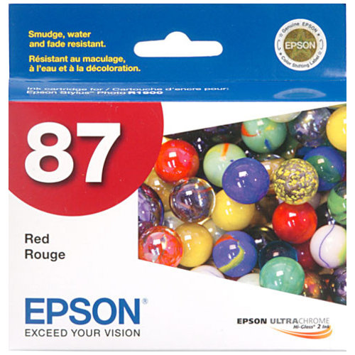 Epson 87 Red (T0877) (Genuine) title=