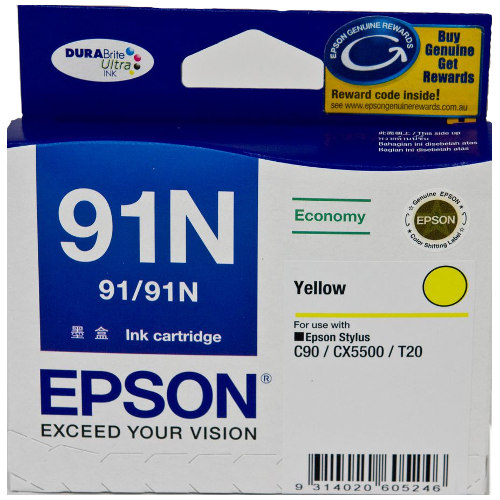Epson 91N Yellow (T1074) (Genuine) title=