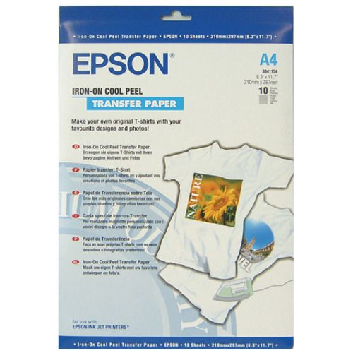 Epson S041154 A4 Iron-on Transfer Paper title=