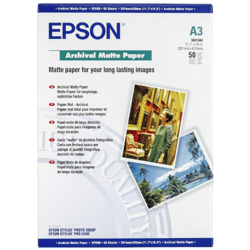 Epson S041344 White A3 Specialty Paper