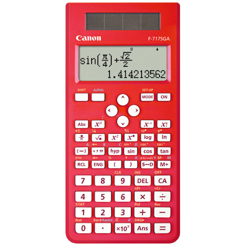 Canon F-717SGA-Red Calculator title=