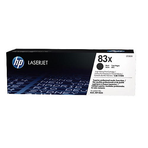 HP 83X Black Toner Cartridge (CF283X)