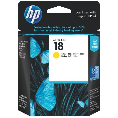 HP 18 Yellow (C4939A) (Genuine) title=