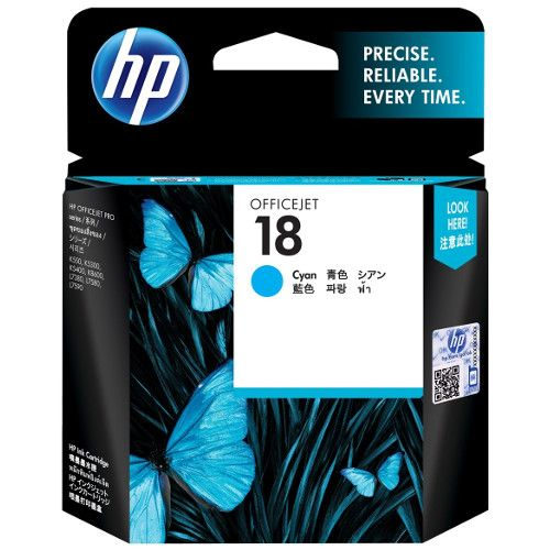 HP 18 Cyan (C4937A) (Genuine) title=