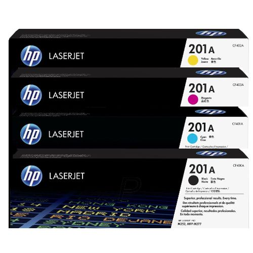 HP 201A 4 Pack Bundle (CF400A-CF403A) (Genuine) title=