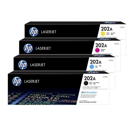 HP 202A 4 Pack Bundle (Genuine)
