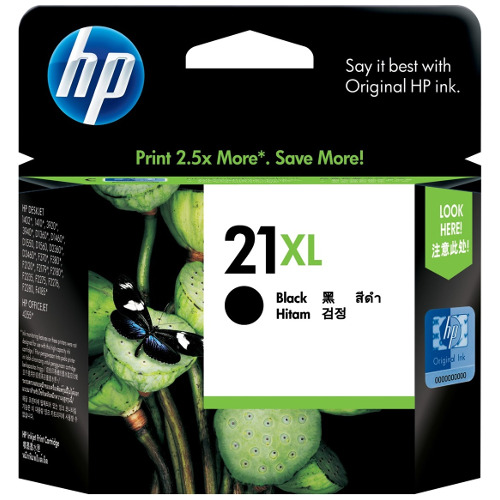DISCONTINUED - HP 21XL Black High Yield (C9351CA) (Genuine) title=