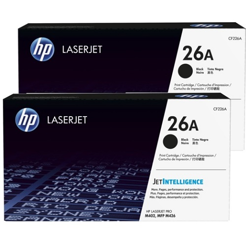 HP 2-Pack 26A Bundle Toner Cartridges (CF226A) Genuine