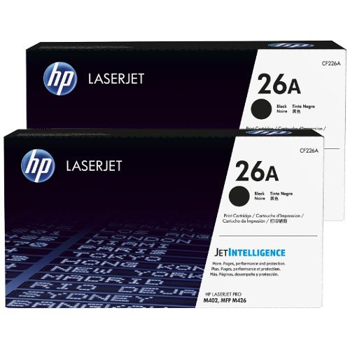 HP 26A 2 Pack Bundle  (CF226A) (Genuine) title=