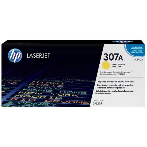 HP 307A Yellow (CE742A) (Genuine) title=
