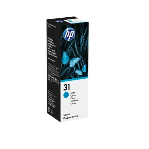 HP 31 Cyan (1VU26AA) (Genuine) title=