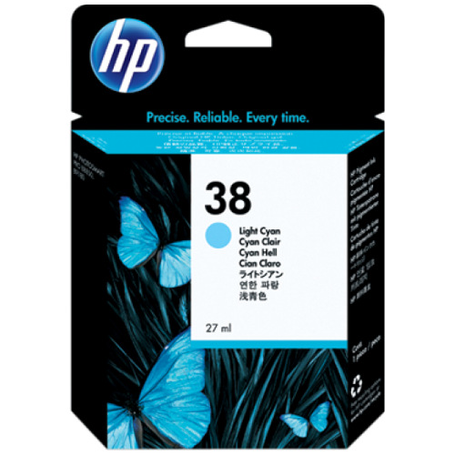 HP 38 Light Cyan (C9418A) (Genuine) title=
