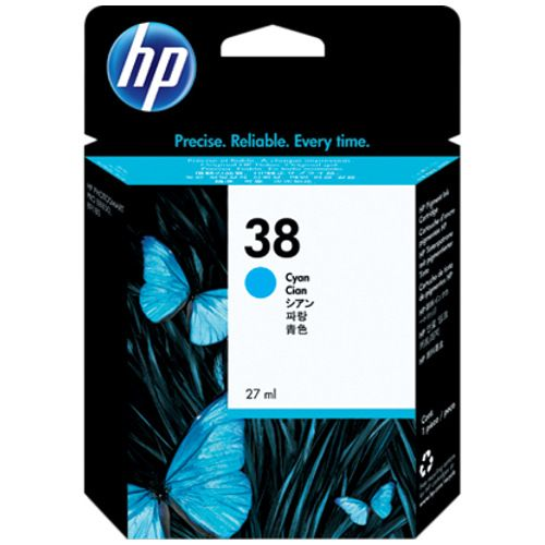 DISCONTINUED - HP 38 Photo Cyan (C9415A) (Genuine) title=