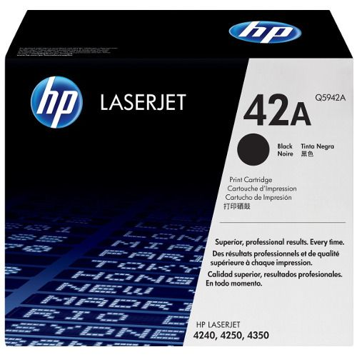 HP 42A Black (Q5942A) (Genuine) title=