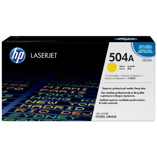 HP 504A Yellow (CE252A) (Genuine) title=